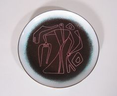 Jackson and Ellamarie Wooley enamel on metal plate