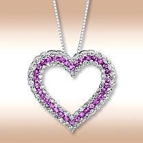 Amethyst heart necklace. MY favorite things all wrapped up in one! Amethyst, purple, diamonds, and jewelry!