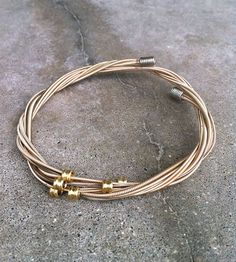 Recycled Guitar String Bracelet