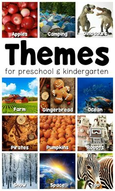 Kindergarten and Preschool Themes - Perfect for early childhood classroom, preschools and daycare- ides for apples, camping, pumpkins and more! Preschool Lesson Plans, Preschool At Home, Preschool Curriculum, Preschool Classroom, Preschool Learning, Preschool Activities, Monthly Themes For Preschool, September Preschool Themes, Preschool Farm