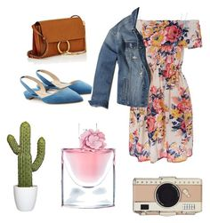 """""""flower dress"""" by k-aren-love on Polyvore featuring Paul Andrew, Hollister Co., Chloé, Kate Spade and Lancôme"""