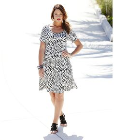 Short Sleeve Jersey Swing Dress at Simply Be