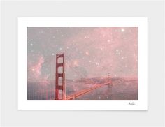 """Stardust Covering San Francisco"", Numbered Edition Fine Art Print by Bianca Green - From $39.00 - Curioos"