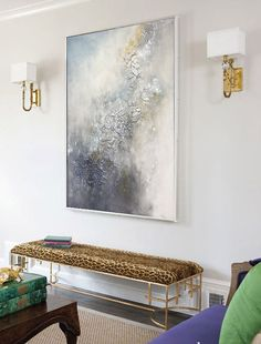 "Wall Art Modern Art Abstract Oil Painting ""Fiolet"" Abstract Painting Large Wall Art Original Painting On Canvas by Julia Kotenko"