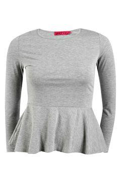 Sophia Long Sleeved Peplum Top alternative image