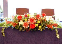 #tokugawaen#novarese#vressetrose#Wedding #japanese #main table #table #Flower #maintable#Bridal#徳川苑# ブレスエットロゼ #ウエディング# 和風 #和装 # メインテーブル#トーション #テーブル # 花#テーブルコーディネート#ブライダル#結婚式#ナチュラル#ブレスエットロゼ名古屋#和#オレンジ#ダリア