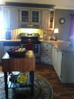 my redo of our manufactured home - Mobile Home Kitchen Designs