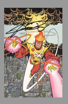Firestorm by George Perez Superhero Villains, Dc Comics Superheroes, Dc Comics Characters, Dc Comics Art, Comic Book Artists, Comic Book Heroes, Comic Artist, Comic Books Art, Superman