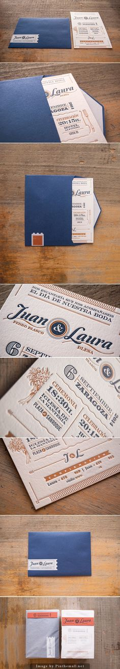 Laura & John wedding invites by elcalotipo