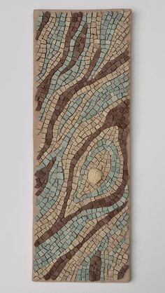 """""""Lifecycle"""" mosaic by Julie Sperling -- x stone and fossil. Creative mosaic, diy, home decor, artwork, professional Mosaic Vase, Pebble Mosaic, Stone Mosaic, Mosaic Tiles, Mosaic Artwork, Mosaic Wall Art, Mosaic Crafts, Mosaic Projects, Mosaic Designs"""