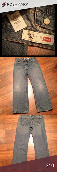 Boys Levis jeans! Casual Levi's jeans for your little guy. 10 regular. Some fading at the knees (as noted). Non-smoker/pet home. Levi's Bottoms Jeans