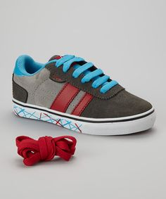 Take a look at this Gray   Red Milan 2 Sneaker by Extreme Sports  Kids 91c506e1bc0