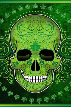 Skull. ~ Green with envy ~... ~ Luck of the Irish ~... Which do you like or do you have one of your own? ~