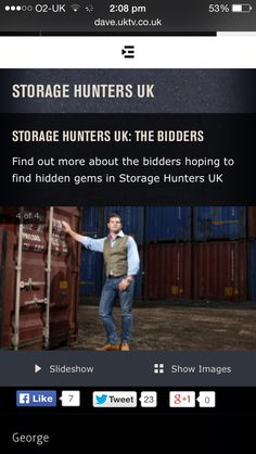 my profile for storage hunters UK
