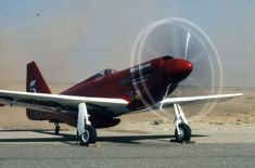 "P-51D ""Red Baron"" NL7715C.  Winner of the Reno Unlimited Gold Race in 1972."