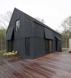 flaps Building Systems, Building Design, Modern Barn, Modern Farmhouse, Black House Exterior, Dark House, Architecture Details, House Architecture, House Plans