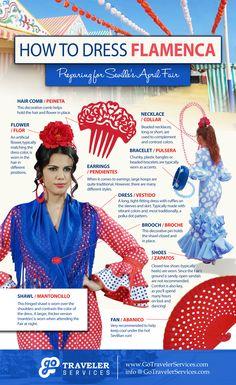 How to Dress Flamenca: Preparing for Seville's April Fair #Infographic #Spain