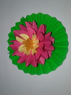 These lotus is made with color papers.   color paper crafts ...