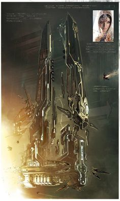 ArtStation - Vehicle shape ideation sketch from Jupiter Ascending, George Hull