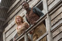 Image of Samuel L. Jackson and Margot Robbie in The Legend of Tarzan