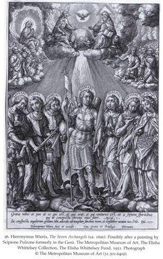 Nombres de arcángeles: Los siete arcángeles de Jerónimo Wierix (c. 1600)