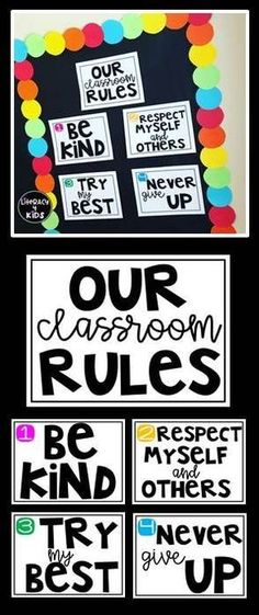 Classroom Rules Posters The post Classroom Rules Freebie appeared first on Dress Models. 3rd Grade Classroom, Classroom Behavior, New Classroom, Classroom Setting, Classroom Design, Classroom Themes, Classroom Organization, Classroom Management, Neon Classroom Decor