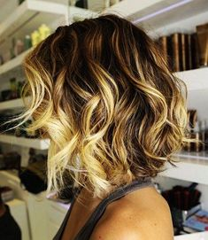 Love the cut and colour - short wavy ombre