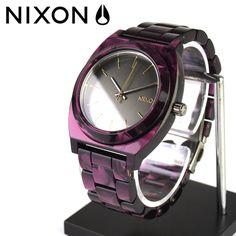 Nixon Time Teller Watch in gunmetal/velvet