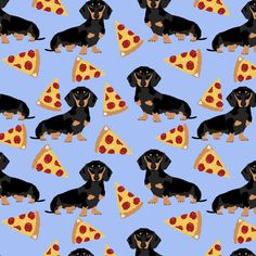 doxie dachshunds dogs pet dog cute pets dachshunds fabric pizza fabric by petfriendly on Spoonflower - custom fabric Weenie Dogs, Pet Dogs, Pets, Dachshund Art, Daschund, Retro Poster, Dog Wallpaper, Dog Illustration, Dog Tattoos