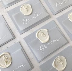 Provence inspired wedding anniversary place setting tags with white calligraphy names on . Provence inspired wedding anniversary place setting tags with white calligraphy names on . Wedding Places, Wedding Place Cards, Wedding Name Tags, Wedding Table Names, Wedding Stationary, Wedding Invitations, Invitation Cards, Invitations Online, Invitation Wording