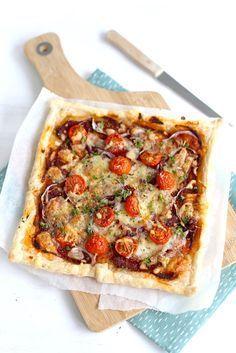 Italiaanse plaattaart Love Food, A Food, Food And Drink, Vegetarian Recipes, Cooking Recipes, Healthy Recipes, Healthy Cooking, Tortilla Vegan, Quiches