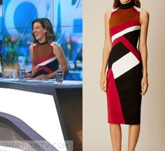 The Project: April 2017 Gorgi's Colorblocked Dress Colorblock Dress, Karen Millen, Pencil Dress, Color Blocking, Friday, Tv, Formal Dresses, Projects, How To Wear