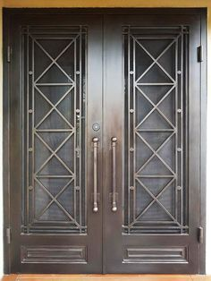View our vast catalogue of previous works from Adoore Iron Designs Melbourne wrought iron. Grill Door Design, House Gate Design, Front Door Design, Wrought Iron Security Doors, Wrought Iron Doors, Wrought Iron Gate Designs, Steel Security Doors, Security Gates, Wrought Iron Porch Railings