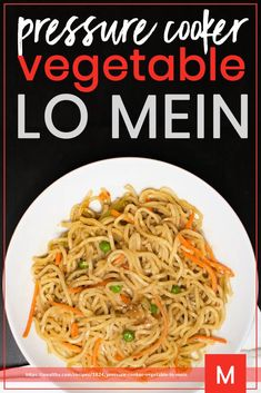 Healthy Food Options, Healthy Eating Recipes, Healthy Life, Using A Pressure Cooker, Pressure Cooker Recipes, Side Dish Recipes, Asian Recipes, Quick Recipes, Vegetable Lo Mein