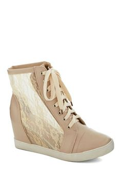 Lace Your Steps Bootie, #ModCloth