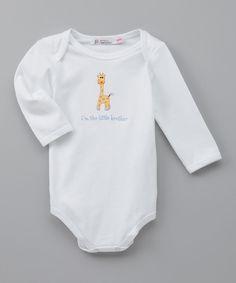 White 'I'm The Little Brother' Bodysuit - Infant
