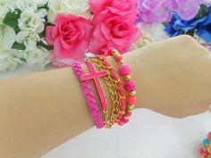 Brazalete rosa, encuentra más accesorios para esta temporada en http://www.1001consejos.com/accesorios-para-primavera/
