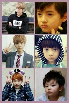 Kris was serious even when he was a kid >°< Somehow, I like him even more knowing that.
