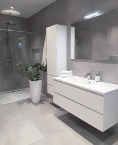 Grey bathrooms designs - 32 best bathroom designs images of beautiful bathroom remodel ideas to try 20 Grey Bathrooms Designs, Bathroom Designs Images, Modern Bathroom Design, Bathroom Interior Design, Bath Design, Ikea Interior, Vanity Design, Interior Ideas, Bad Inspiration