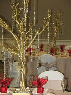 Red Gold And Silver Christmas Trees