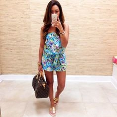 love this colorful romper