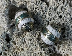 Tibetan Beads   Two by SmallWorldTreasures on Etsy, $18.00