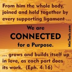God formed the church by bringing together two very different god provides the blueprint for church growth in ephesians the first part of the verse establishes our connection to one another which will be the topic of malvernweather Choice Image