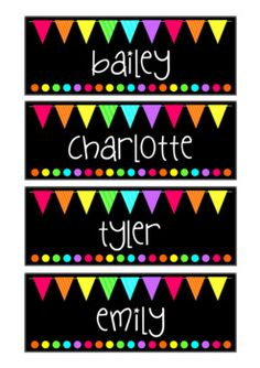 These rainbow flag name tags make any classroom light and bright. Use them as locker tags, bag tags or even desk plates. They come editable too so you can add your own students names. Don't forget to check out the rest of the matching set for your classroom!