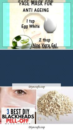 The 3 Best DIY Blackheads Peel-Off MasksThese are 3 effective Homemade face masks for blackheads. If you have ever wonder how to get rid of blackheads or on nose area or the face, these DIY peel-off facemasks are for you. You will say goodbye to pimple popping. These homemade facial also work well with Diy face scrub recipes for the ultimate removal of blackheads. They will give you the best ...
