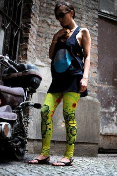 Szalone legginsy #FRIFRU idealne na każdą porę roku! #labelsshop #yellow #leggins
