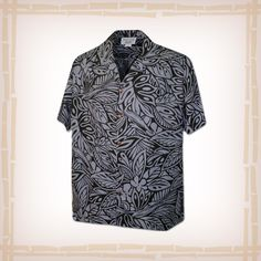 """FREE SHIPPING – EVERY ORDER, EVERY DAY! Hawaiian Shirt """"Leaf Me Alone"""" By Pacific Legend – Black  Coconut shell buttons and matching print engineered chest pocket. This Pacific Legend Hawaiian Shirt Garment is 100% Cotton and MADE IN HAWAII. http://hawaiianshirtdude.com/product/hawaiian-shirt-leaf-alone-pacific-legend-black/"""