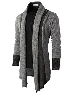 Mens Fashion Slim Fit Open Front Long Sleeve Shawl Collar Pullover Cardigan - - - - Men's Clothing, Sweaters, Cardigans, Mens Fashion Slim Fit Open Front Long Sleeve Shawl Collar Pullover Cardigan – – Source by vipereve Stylish Mens Fashion, Suit Fashion, Fashion Outfits, Fashion Sites, Cardigan Fashion, Fashion Hair, Cheap Fashion, Fashion Advice, Fashion Boots