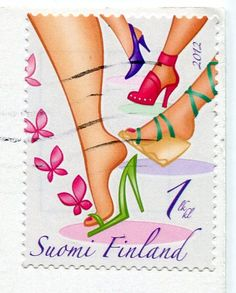 *Finland – Remembering Letters and Postcards Tampons, Letter Writing, Stamp Collecting, Mailbox, Postage Stamps, Finland, Butterfly, Footwear, Letters