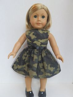American Girl Doll Clothes Dress Fits 18 by JillRodgersDesigns